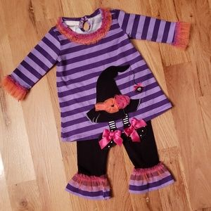 Bonnie Baby Halloween Witch Hat Tunic & Leggings